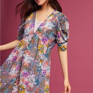 Anthropologie Valencia floral dress
